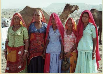 Ladies at Pushkar Fair