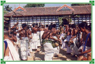 Peoples Celebrating Festival in Kerala, South India