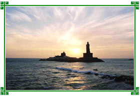 Beach at Sunrise, Kanyakumari